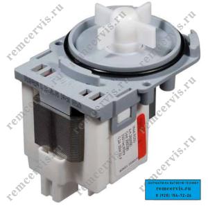 http://remcervis.ru Сливной насос для стиральной машины AEG (АЕГ). 3 защелки, фишка назад